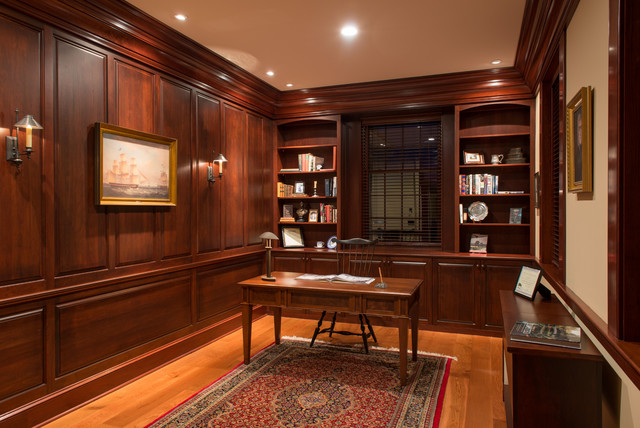 New England Colonial Traditional Home Office Boston