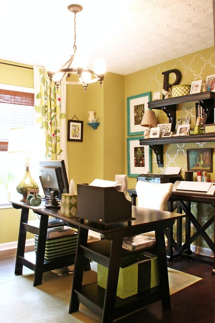 New Happy Green Office eclectic-home-office