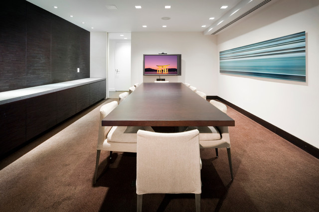 Conference Room Design Ideas industrial conference room table Contemporary Home Office Idea In New York