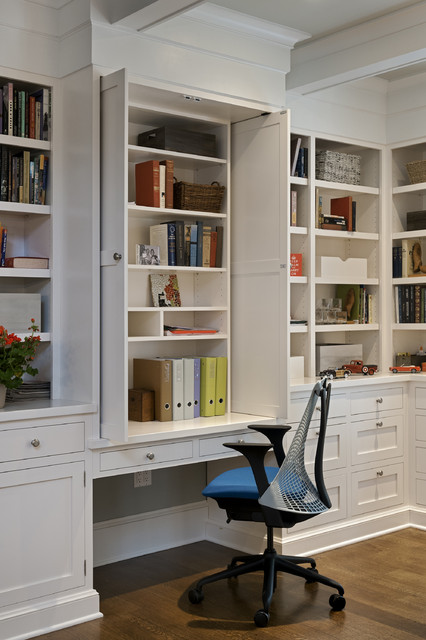 New York Transformation - Traditional - Home Office - new york - by Crisp Architects