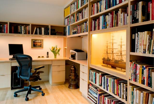 Newton, MA Residence modern-home-office