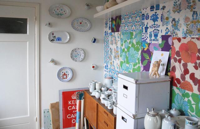 Nina van de Goor's Home - Studio eclectic-home-office
