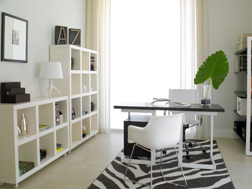 Modern Home Office Design By Miami Interior Designer Causa Design Group