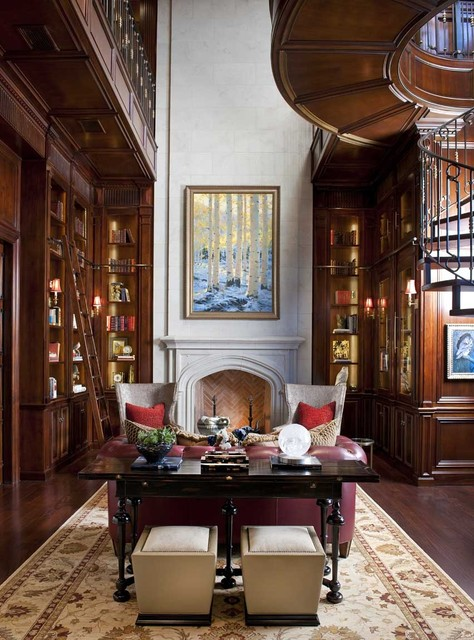 North dallas residence traditional home office dallas by dallas design group interiors - Traditional home office design ...