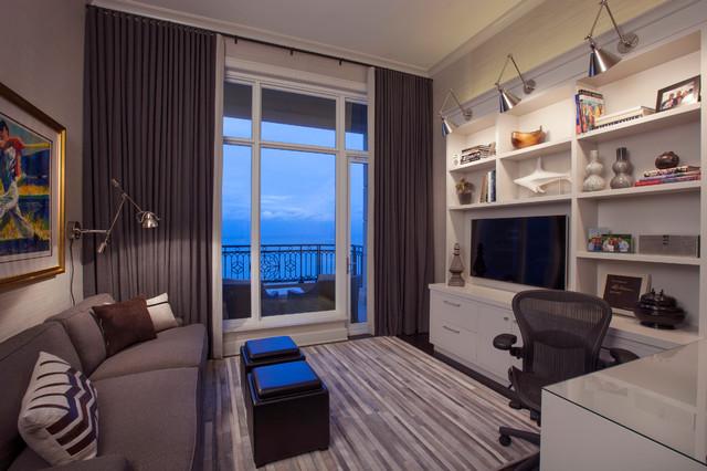 Den Design Ideas black paneled den with white marble fireplace Den Tv Home Design Photos