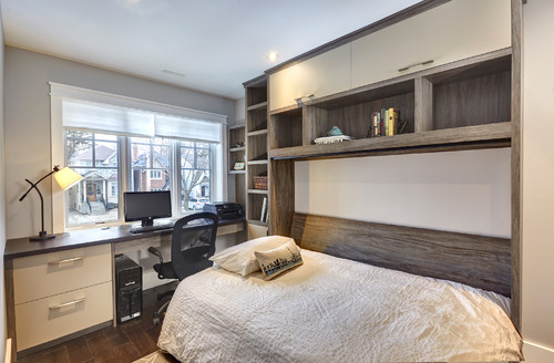 North Toronto Home Office with Murphy Bed by Space Solutions on Houzz