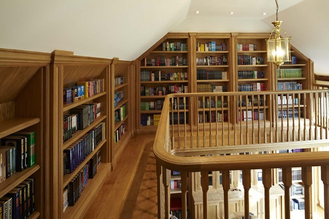 oak home office traditional home office and library bespoke home office