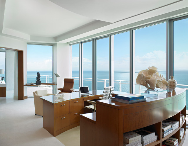 alene workman interior design, inc. Interior Designers & Decorators. Ocean  Penthouse Miami Beach contemporary-home-office