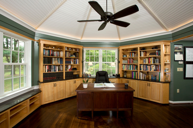 Octagon Shaped Addition Traditional Home Office Dc