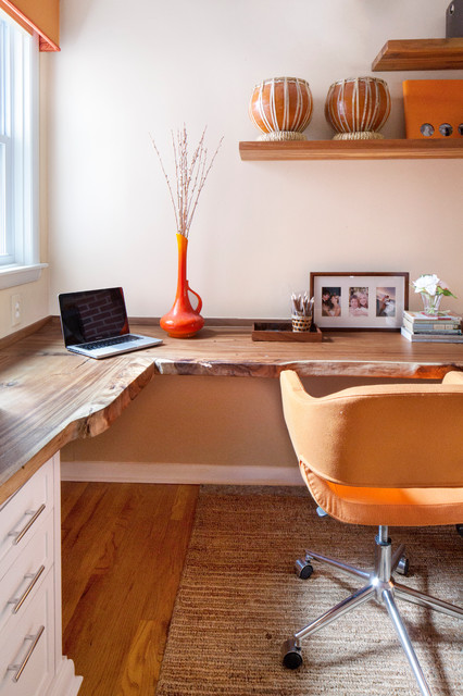 Office Alcove In Philly Rowhouse Contemporary Home