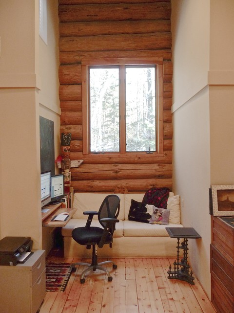 office alcove rustic home office alcove office