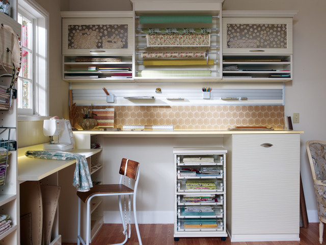 Office craft rooms home office columbus by for California closets craft room