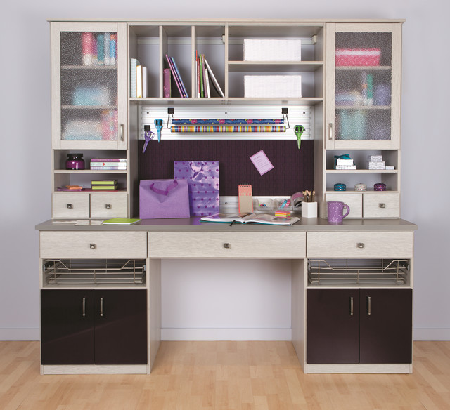 Office craft rooms contemporary home office other for California closets craft room