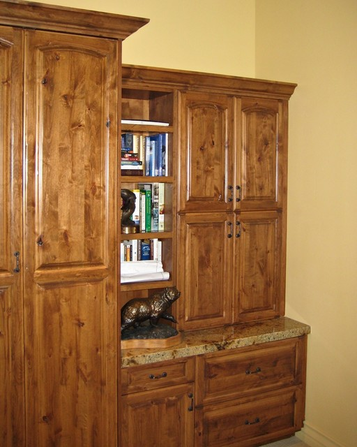 Office Guest Room - Murphy Bed, Filing Cabinets, and Shelves - Mediterranean - Home Office - los ...