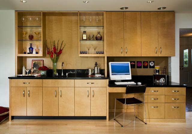Trendy Built In Desk Home Office Photo San Francisco