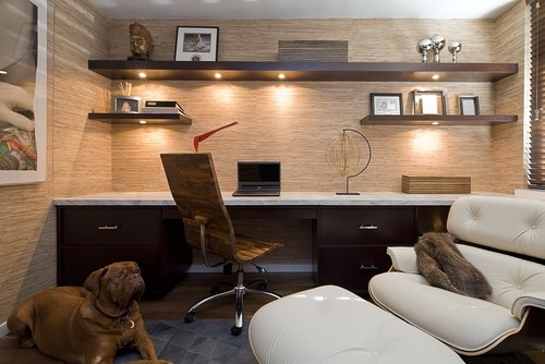 Man Cave Home Office Ideas : Tuesday s tips use floating shelves cabinets to create