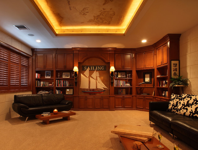 Office Library Mediterranean Home Office Miami By Brown S Interior Design