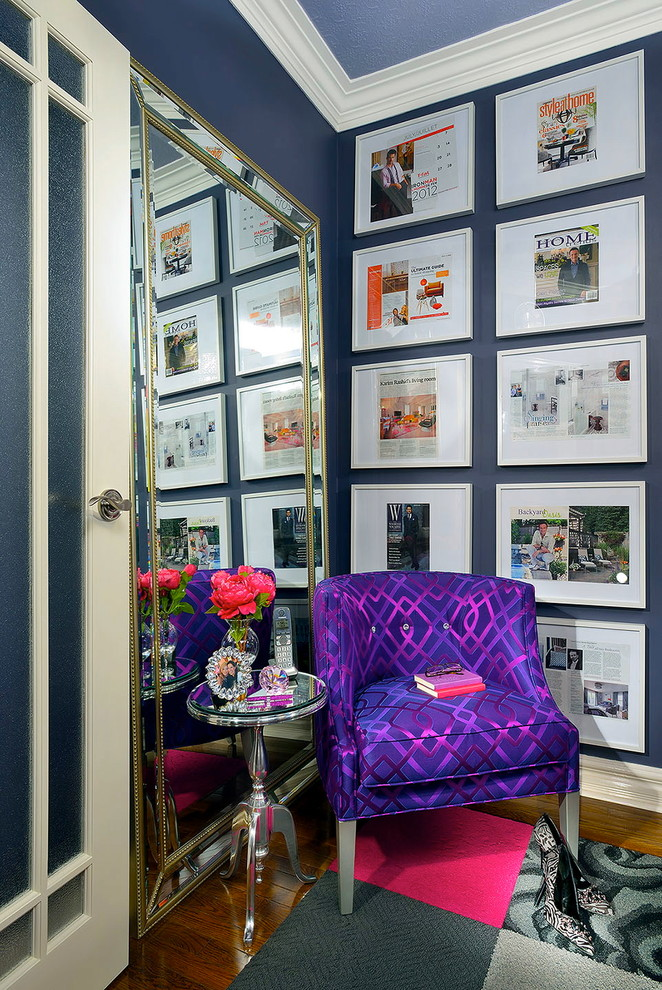 Inspiration for a contemporary home office remodel in Toronto