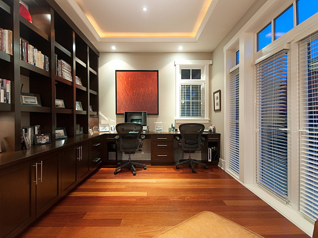 contemporary home office by Peter Rose Architecture and Interiors