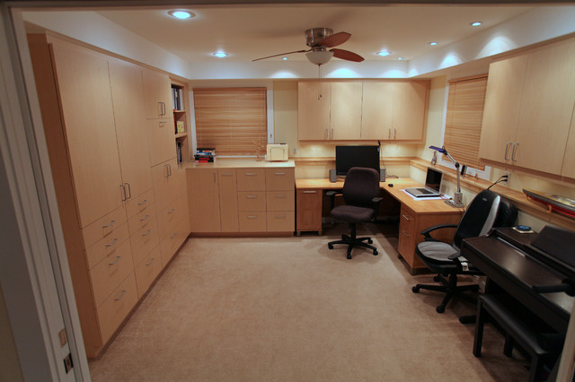 office remodeling and furniture build modern home office