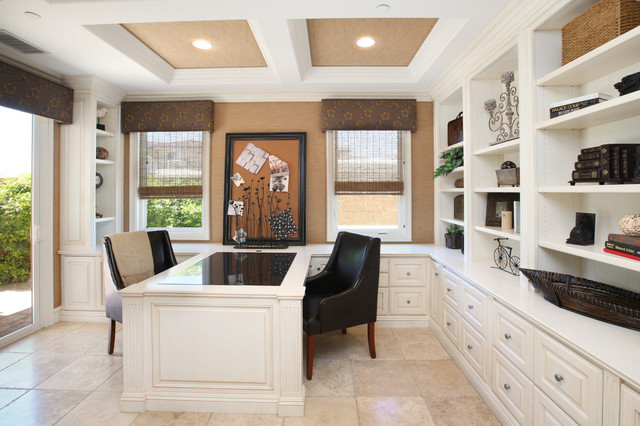 Office Space Traditional Home Office Orange County