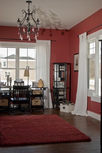 Home office - craftsman home office idea in Indianapolis