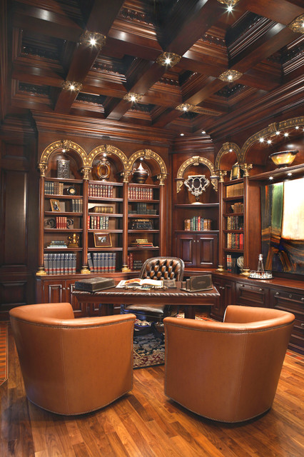 Venetian office mediterranean home office phoenix - Home office interior design ...