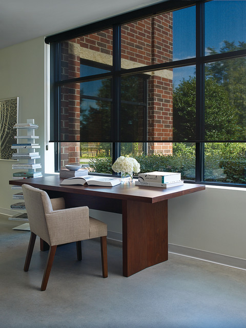 office window treatments contemporary home office las vegas by