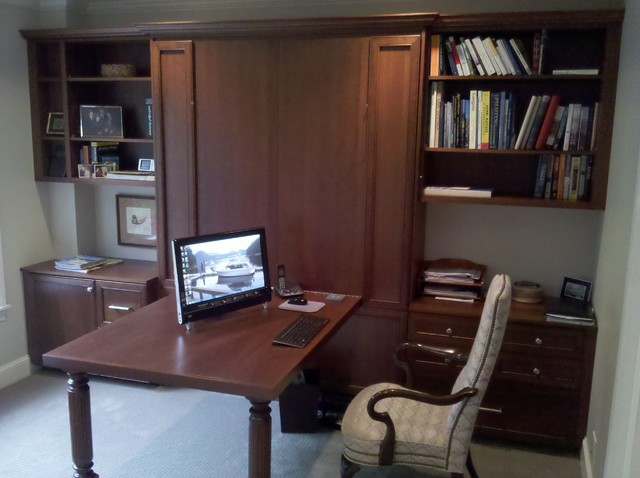 office with murphy bed. Office With A Murphy Bed 1 Traditional-home-office-and-library Y