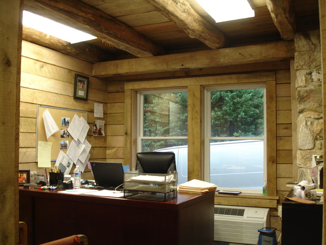 Offices in a converted barn - Rustic - Home Office - dc metro - by Refined Structures, LLC