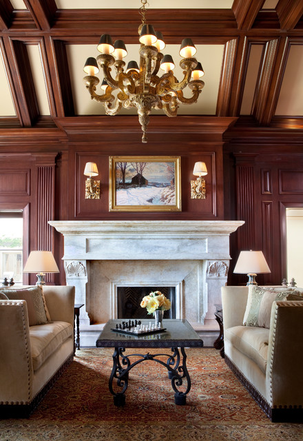 Handsome Library traditional-home-office