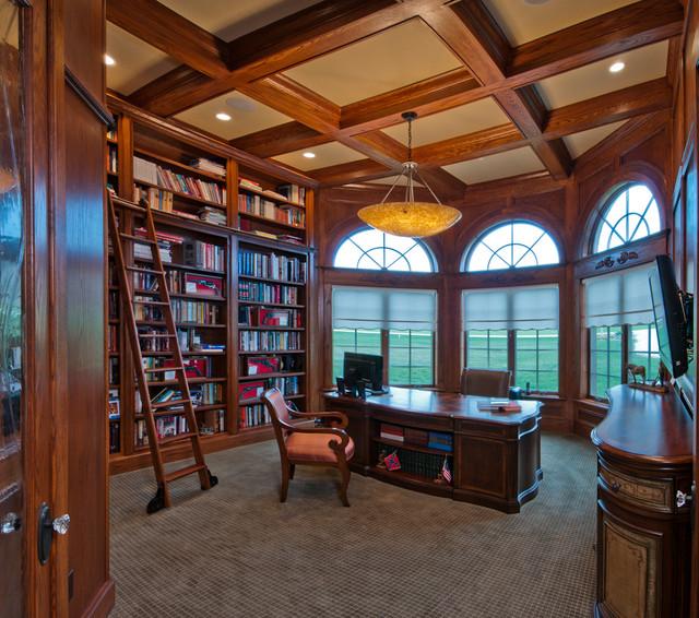 Old World Europeantraditional Home Office Rose Custom Interiors