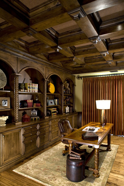 Old world library traditional home office other for Old world home designs