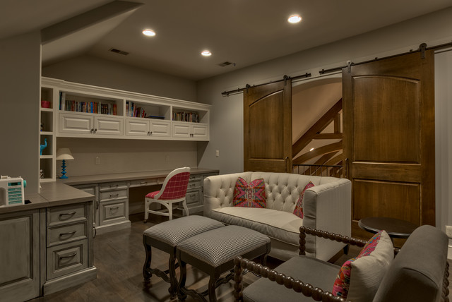 Old World Sanctuary Home - Omaha, NE - Traditional - Home Office - omaha - by Eurowood Cabinets, Inc