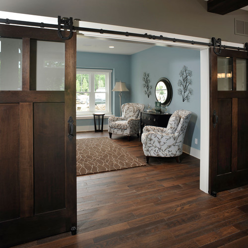 Tips for building your own sliding wood door schutte lumber for Barn doors for home office