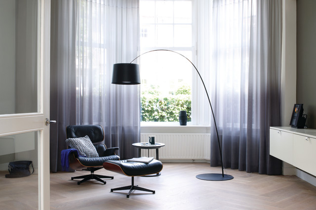 Superbe Ombre Drapes Contemporary Home Office