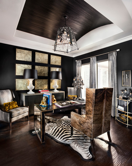 Onyx Den - Transitional - Home Office - Dallas - by JOHN