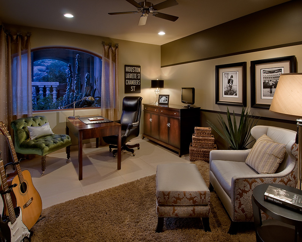 Inspiration for a contemporary freestanding desk home office remodel in Phoenix