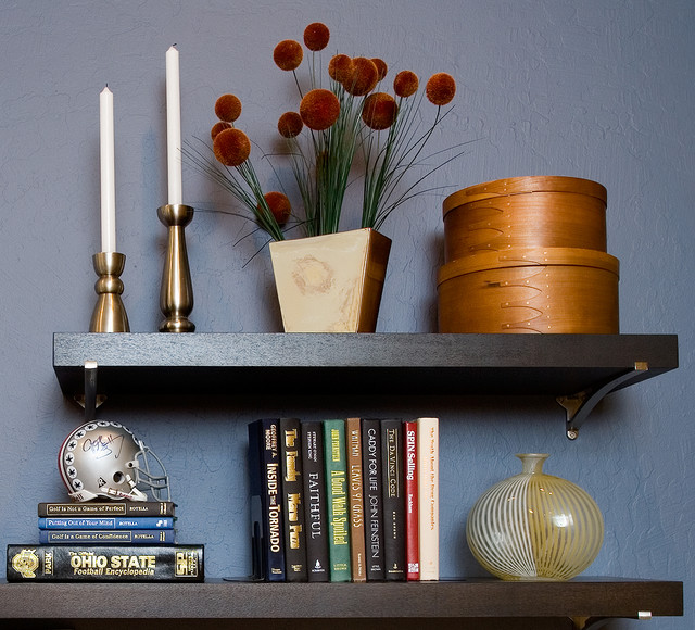 Pacific Heights Pop - Shelf display by Kimball Starr Interior Design contemporary-home-office