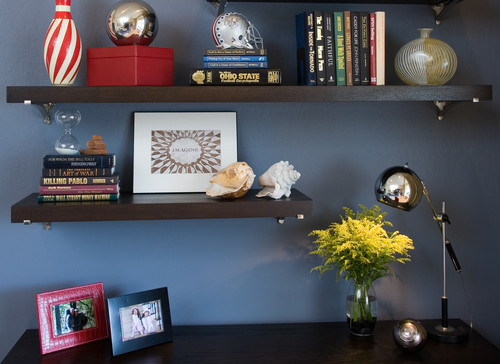 Pacific Heights Pop - Shelf display by Kimball Starr Interior Design modern home office