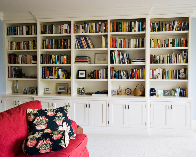 painted bookcase traditional home office charleston