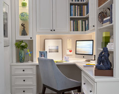 Painted Maple Corner Office contemporary home office