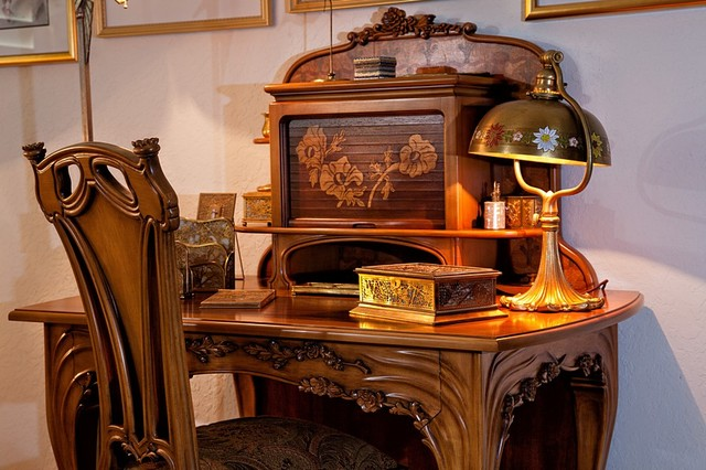 Palm Beach Gardens traditional-home-office