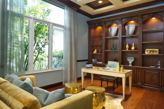 Palm Beach Getaway transitional-home-office