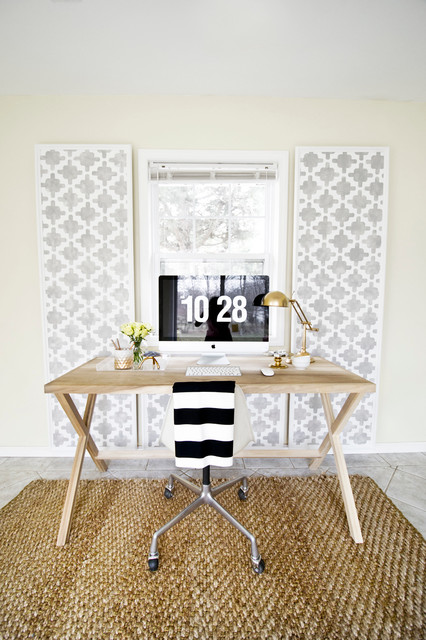 Paneled Wall contemporary-home-office