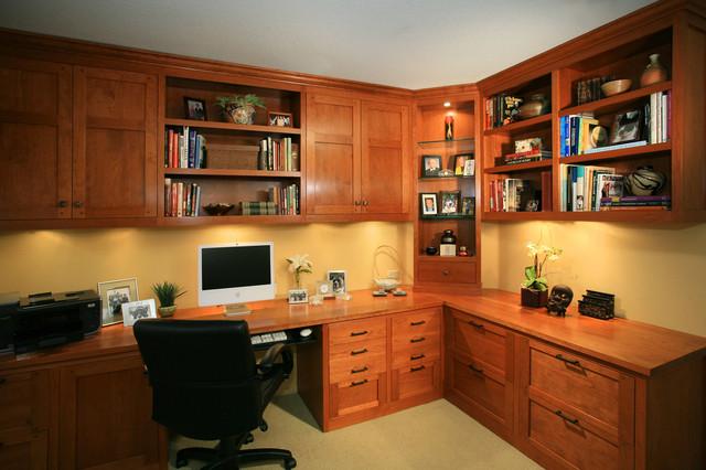 Pasadena Japanese Craftsman - Craftsman - Home Office - Los Angeles ...