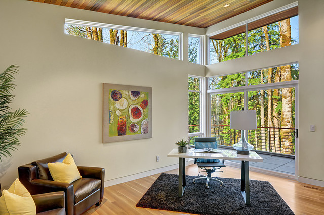 Pavilion In The Woods Contemporary Home Office