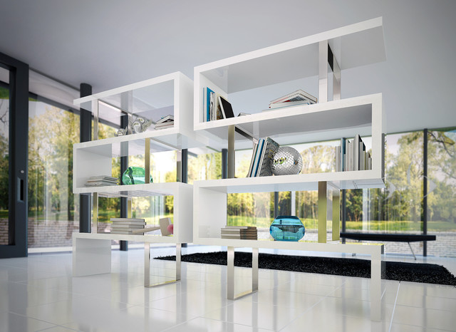 modern office shelving. Pearl Contemporary \u0026 Modern Bookcases By ModLoft Contemporary-home-office Office Shelving O