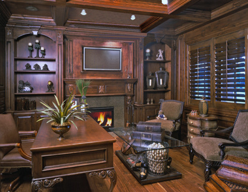 Pepperwood, Utah Estate by Markay Johnson Construction traditional-home-office