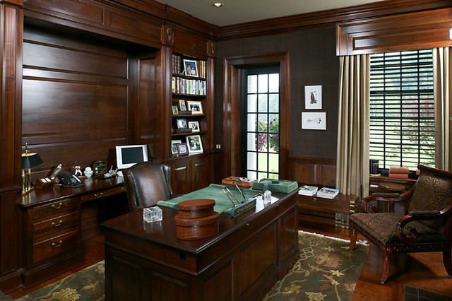 Period Colonial Home Office And Library